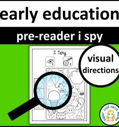 Pre-Reader I Spy - Made By Teachers [ 2400 x 2400 Pixel ]