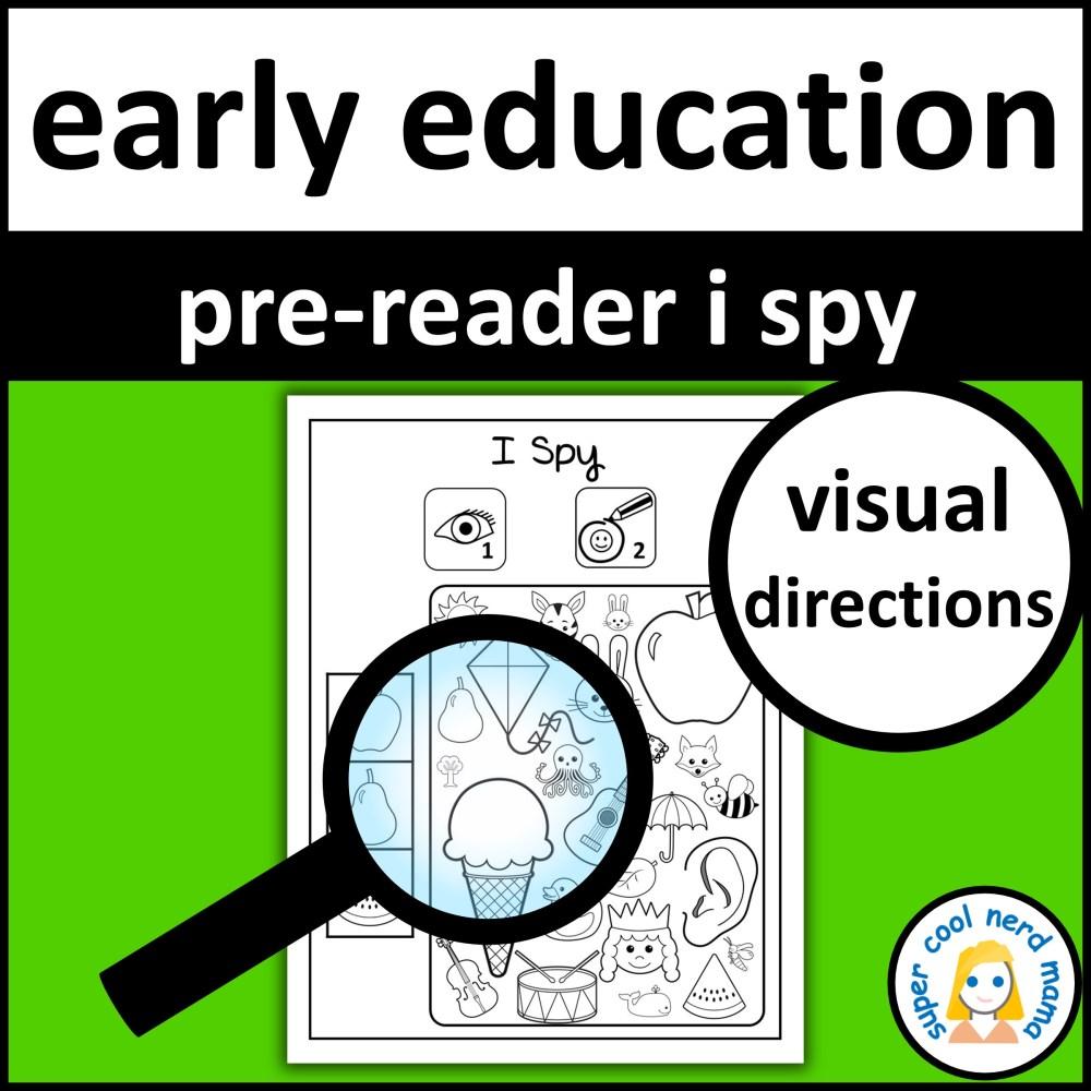 medium resolution of Pre-Reader I Spy - Made By Teachers