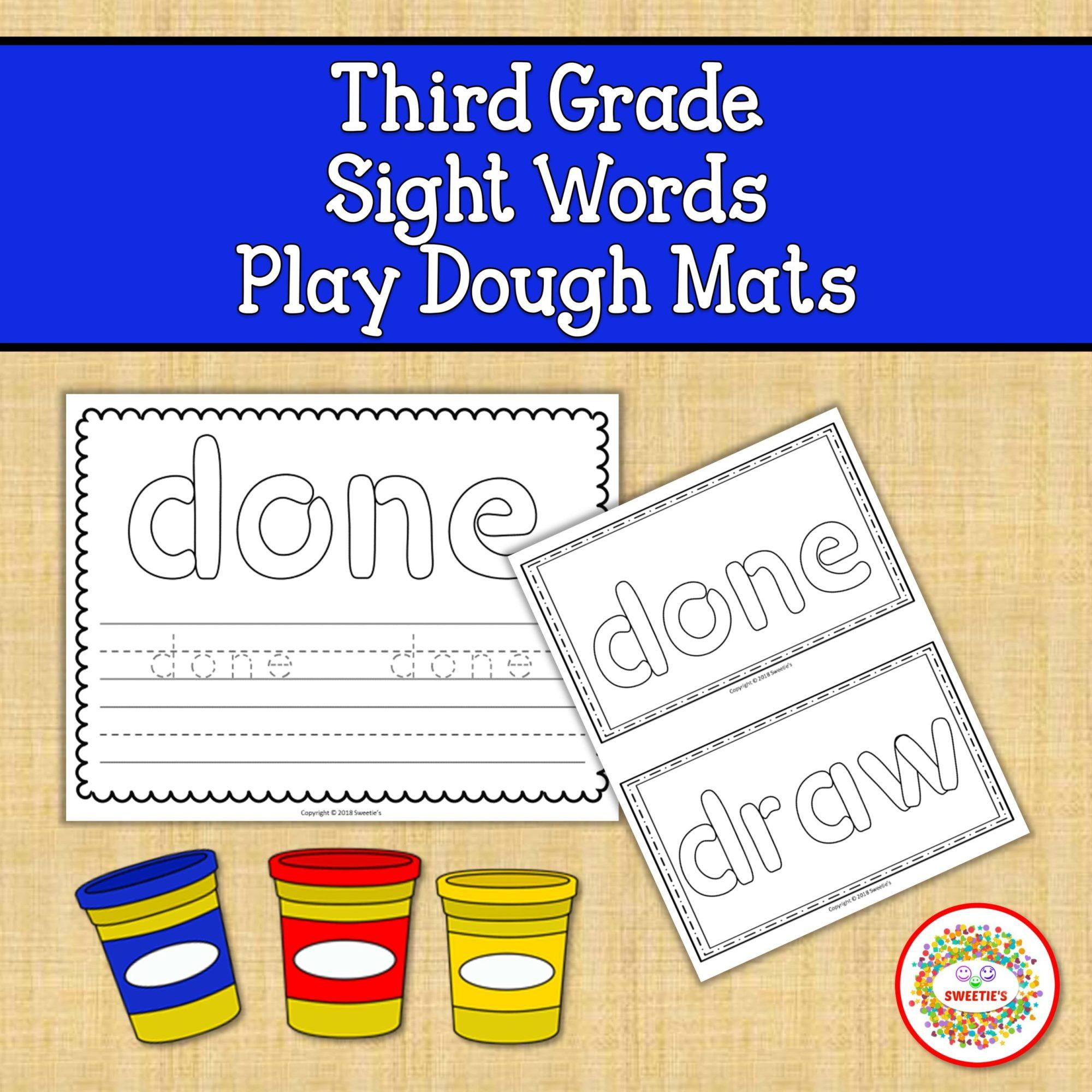 hight resolution of Playdough Sight Word Mats Third Grade - Made By Teachers