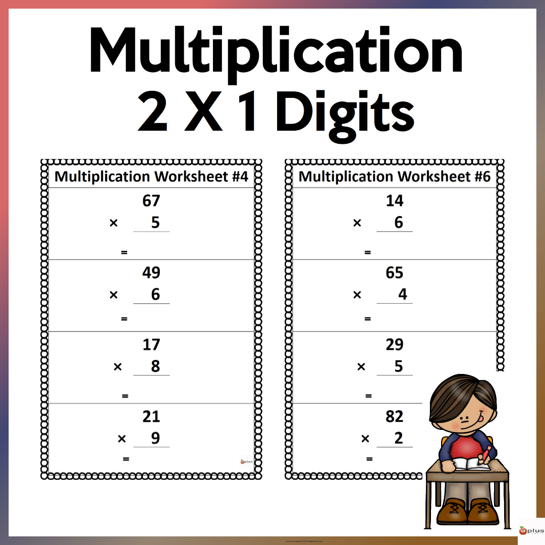 hight resolution of 2 x 1 Multiplication Worksheets - Made By Teachers