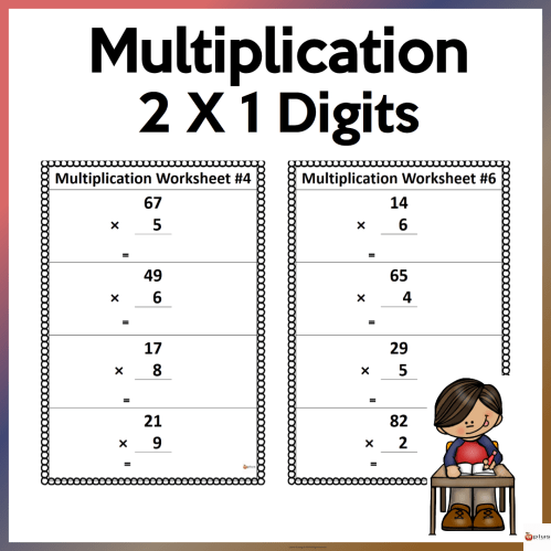small resolution of 2 x 1 Multiplication Worksheets - Made By Teachers