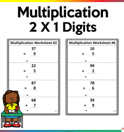 2 x 1 Multiplication Worksheets - Made By Teachers [ 1080 x 1080 Pixel ]