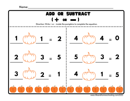 small resolution of First Grade Add or Subtract - Made By Teachers