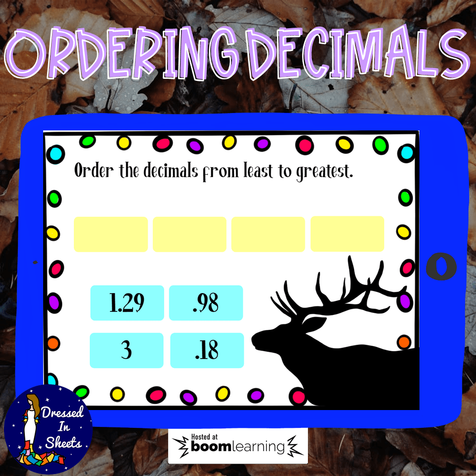 medium resolution of Ordering Decimals Worksheets \u0026 BOOM Cards Distance Learning - Made By  Teachers