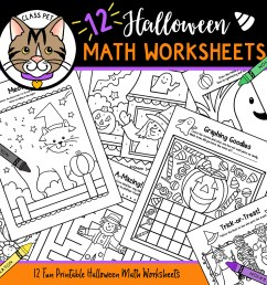 Halloween Math Worksheets - Made By Teachers [ 1050 x 1050 Pixel ]