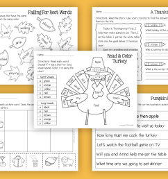 Thanksgiving Reading and Math No-Prep Worksheets 1st Grade - Made By  Teachers [ 1032 x 1372 Pixel ]