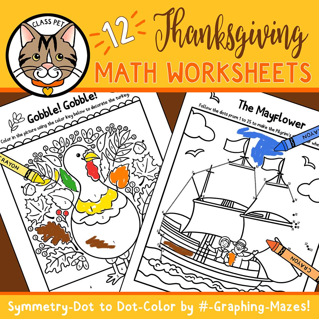 Thanksgiving Math Worksheets For Preschool