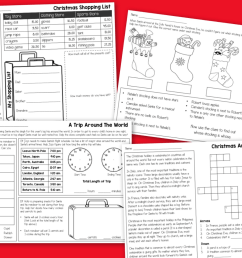 3rd Grade CHRISTMAS Activities No-Prep Math \u0026 Reading Holiday Worksheets -  Made By Teachers [ 1062 x 1406 Pixel ]