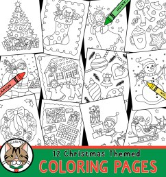Christmas Coloring Pages for Preschool   Kindergarten   First Grade - Made  By Teachers [ 1050 x 1050 Pixel ]
