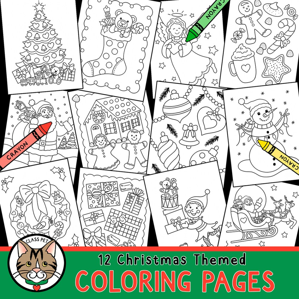 medium resolution of Christmas Coloring Pages for Preschool   Kindergarten   First Grade - Made  By Teachers
