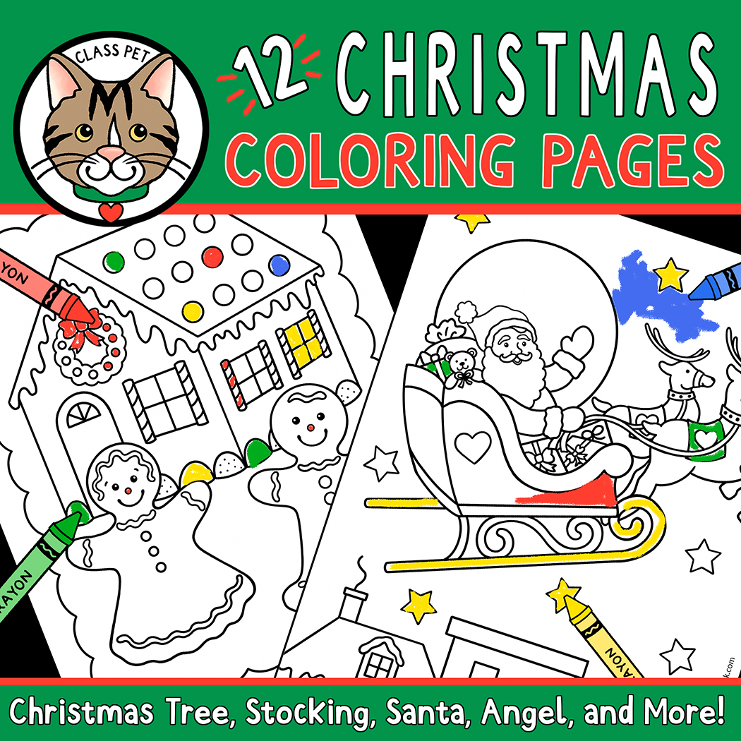 hight resolution of Christmas Coloring Pages for Preschool   Kindergarten   First Grade - Made  By Teachers