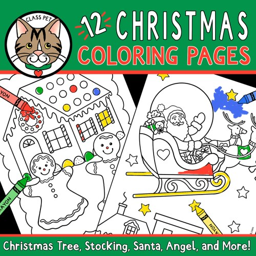 small resolution of Christmas Coloring Pages for Preschool   Kindergarten   First Grade - Made  By Teachers