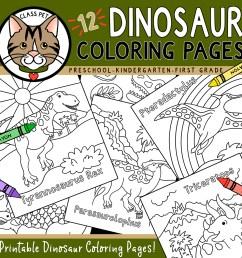 Dinosaur Coloring Pages for Preschool   Kindergarten   First Grade - Made  By Teachers [ 1050 x 1050 Pixel ]