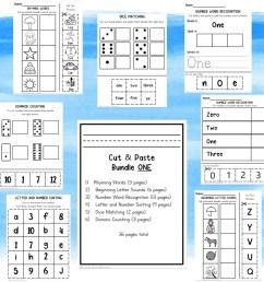 Kindergarten Grade One Cut and Paste Worksheets - Madebyteachers [ 1063 x 1080 Pixel ]