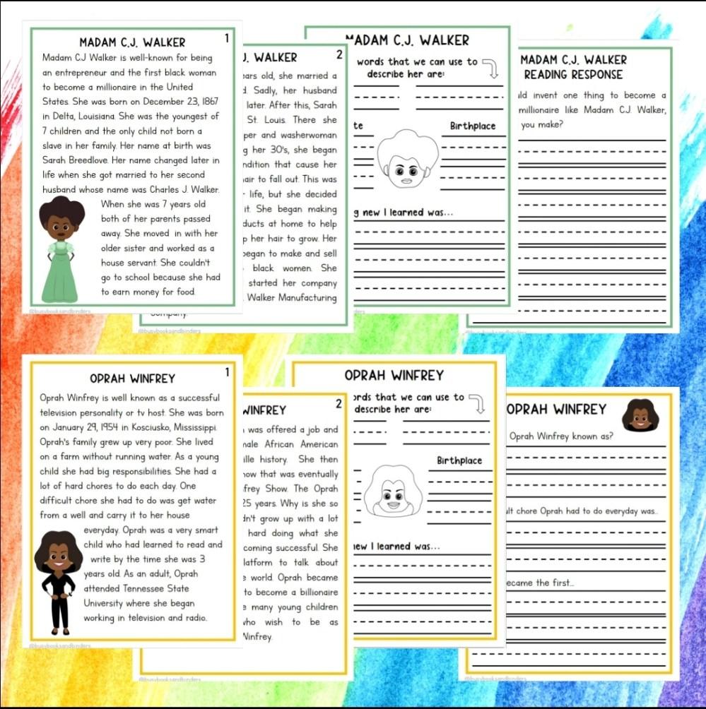 medium resolution of Black History Month Activities   Black History Worksheets   Reading -  Madebyteachers