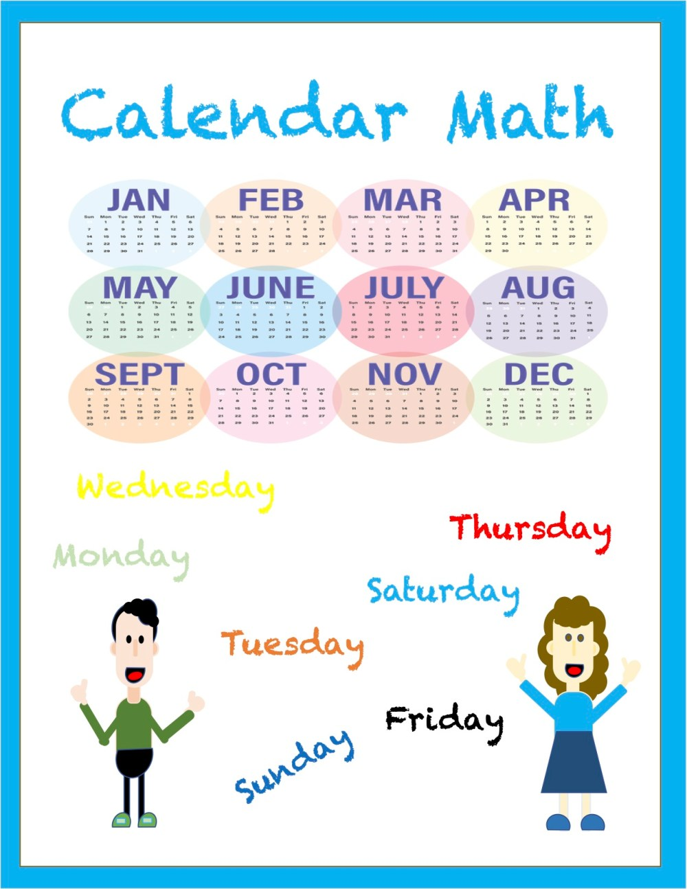medium resolution of Calendar Math Worksheets - Madebyteachers