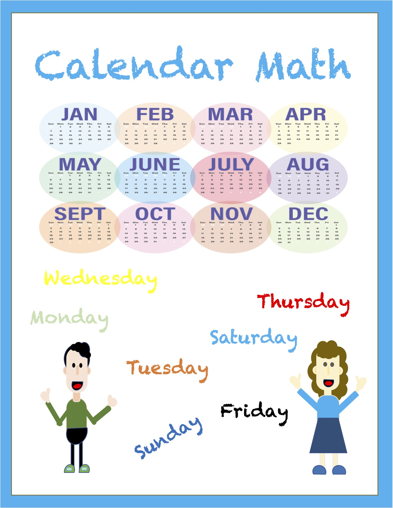 hight resolution of Calendar Math Worksheets - Madebyteachers