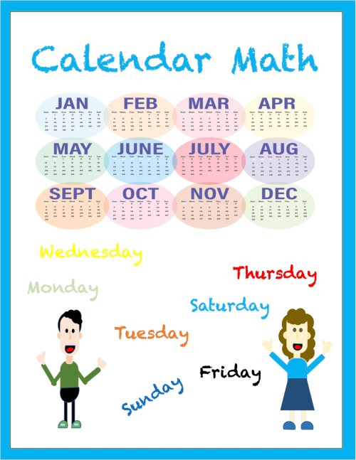 small resolution of Calendar Math Worksheets - Madebyteachers