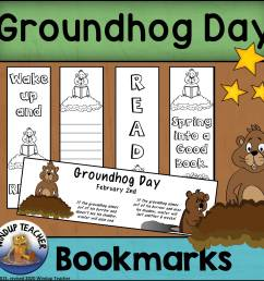 Groundhog Day Bookmarks - Made By Teachers [ 2400 x 2400 Pixel ]