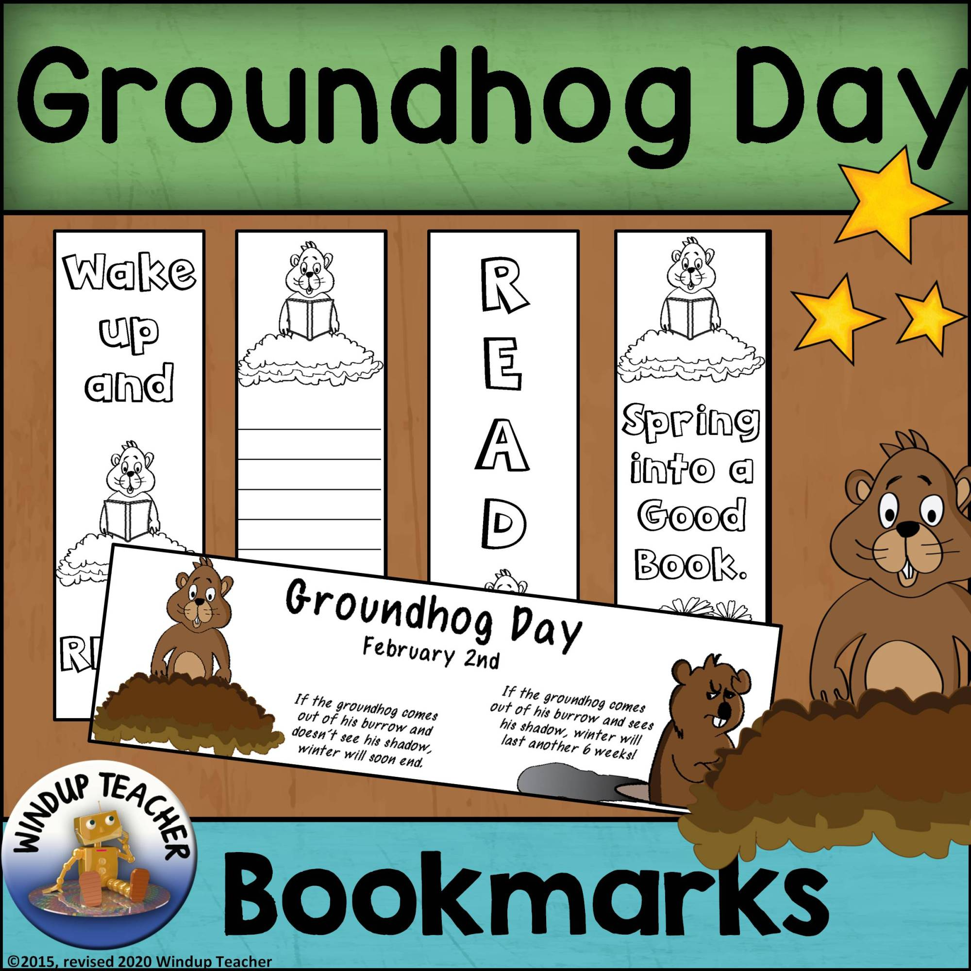 hight resolution of Groundhog Day Bookmarks - Made By Teachers