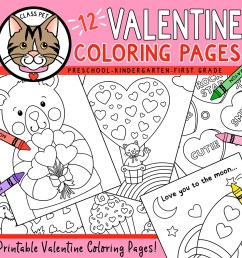 Valentine's Day Coloring Pages - Made By Teachers [ 1050 x 1050 Pixel ]