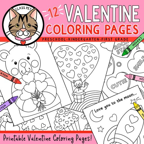 small resolution of Valentine's Day Coloring Pages - Made By Teachers