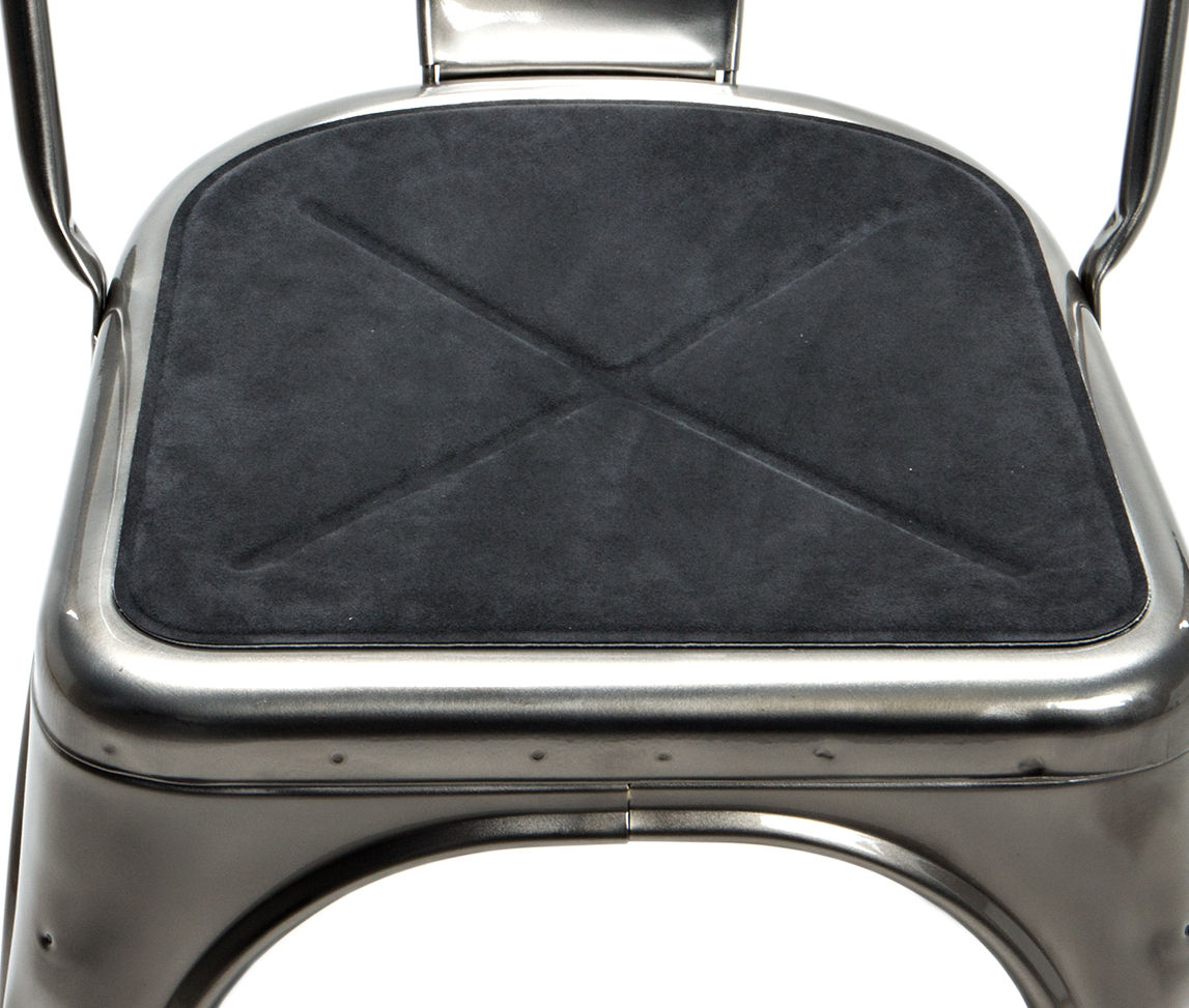 tolix chair cushion easy to clean high seat anthracite by