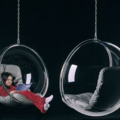 Hanging Chair Clear Barley Twist Bubble Armchair