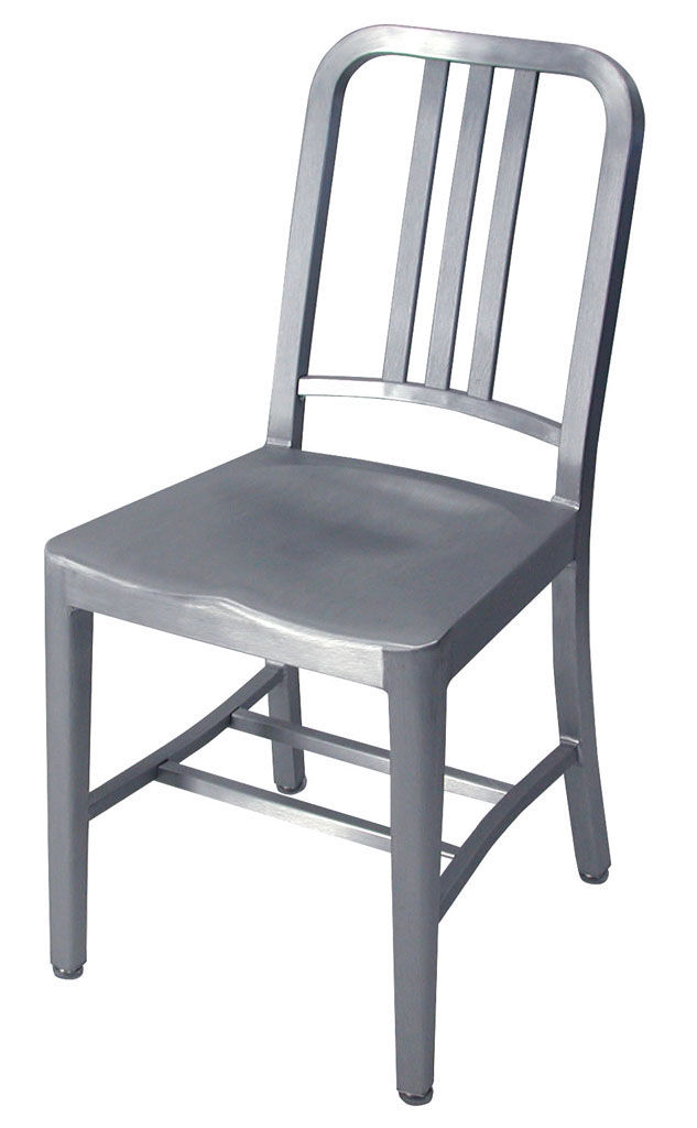 Navy Chair Chair  Aluminium Brushed aluminium by Emeco