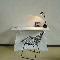 Zeta Desk Chair Transparent Polycarbonate Chairs White By Studio Manzano