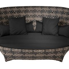 Round Sofa Bed Uk Express Birmingham Cape West Straight Black Brown By Driade