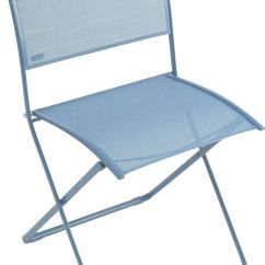 Folding Fabric Chairs Deck Lowes Plein Air Chair Turquoise By Fermob