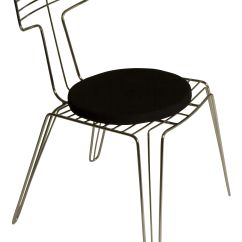 Steel Chair With Cushion Fisher Price Booster High Wire Metal Seat By Tom Dixon