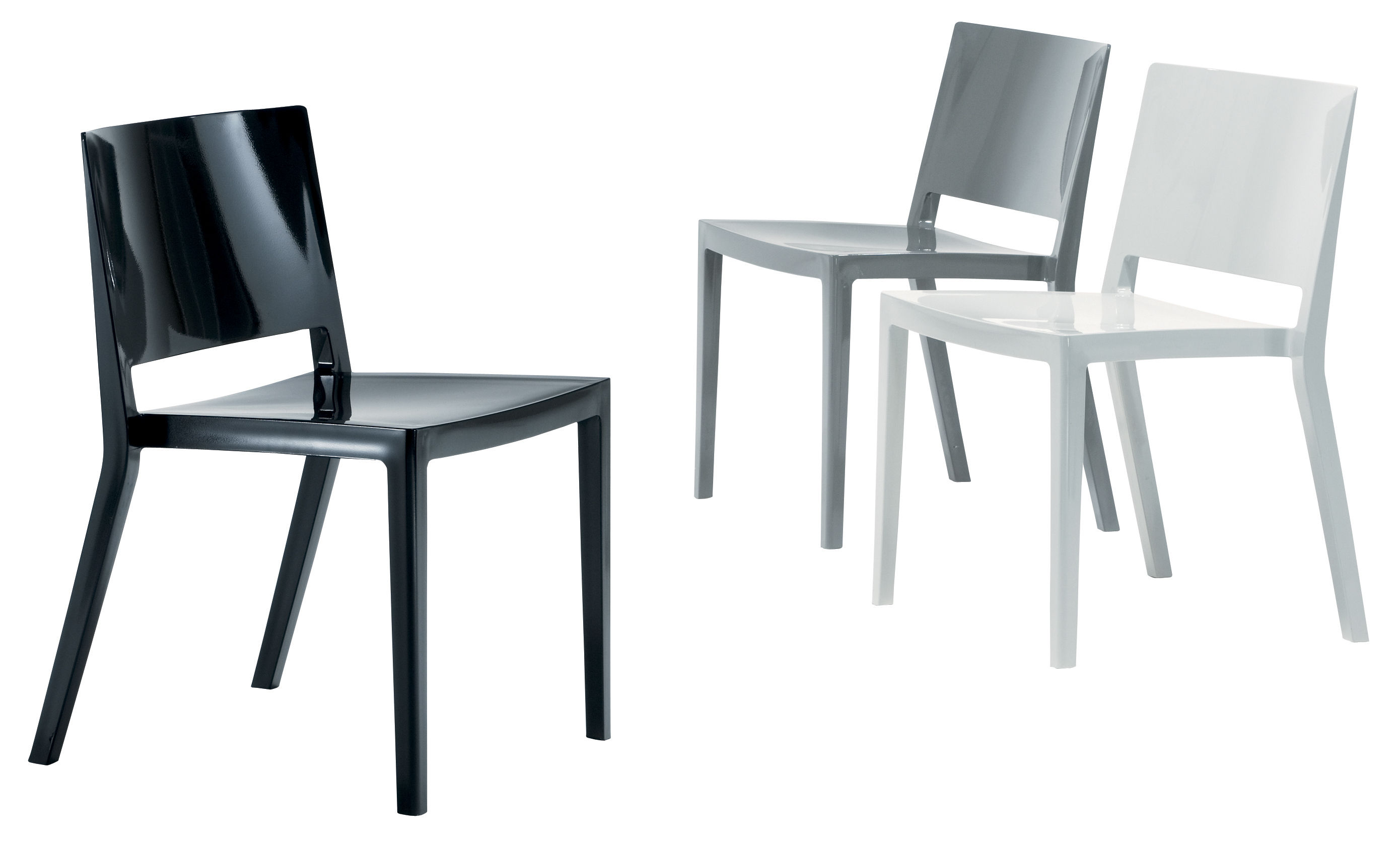 design chair kartell pb anywhere lizz stacking glossy version black by