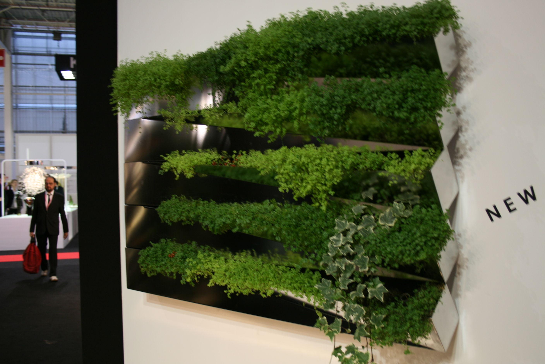 Jardinire Miroir En Herbe Murale Inox Compagnie