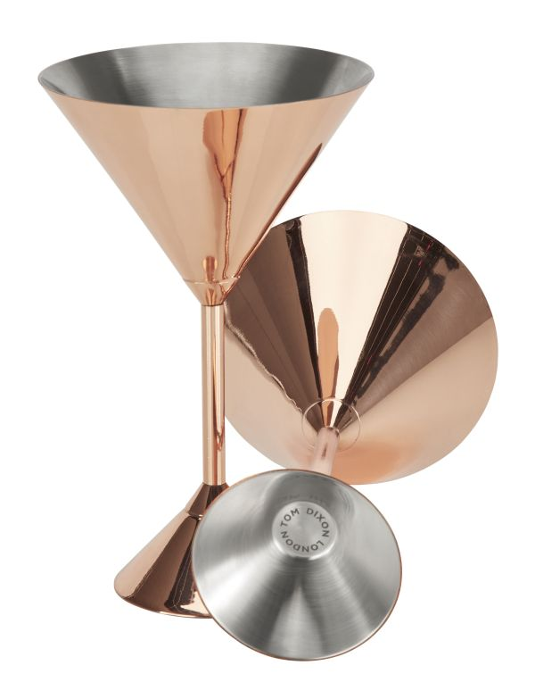 Plum Martini Cocktail glass - Set of 2 Copper by Tom Dixon