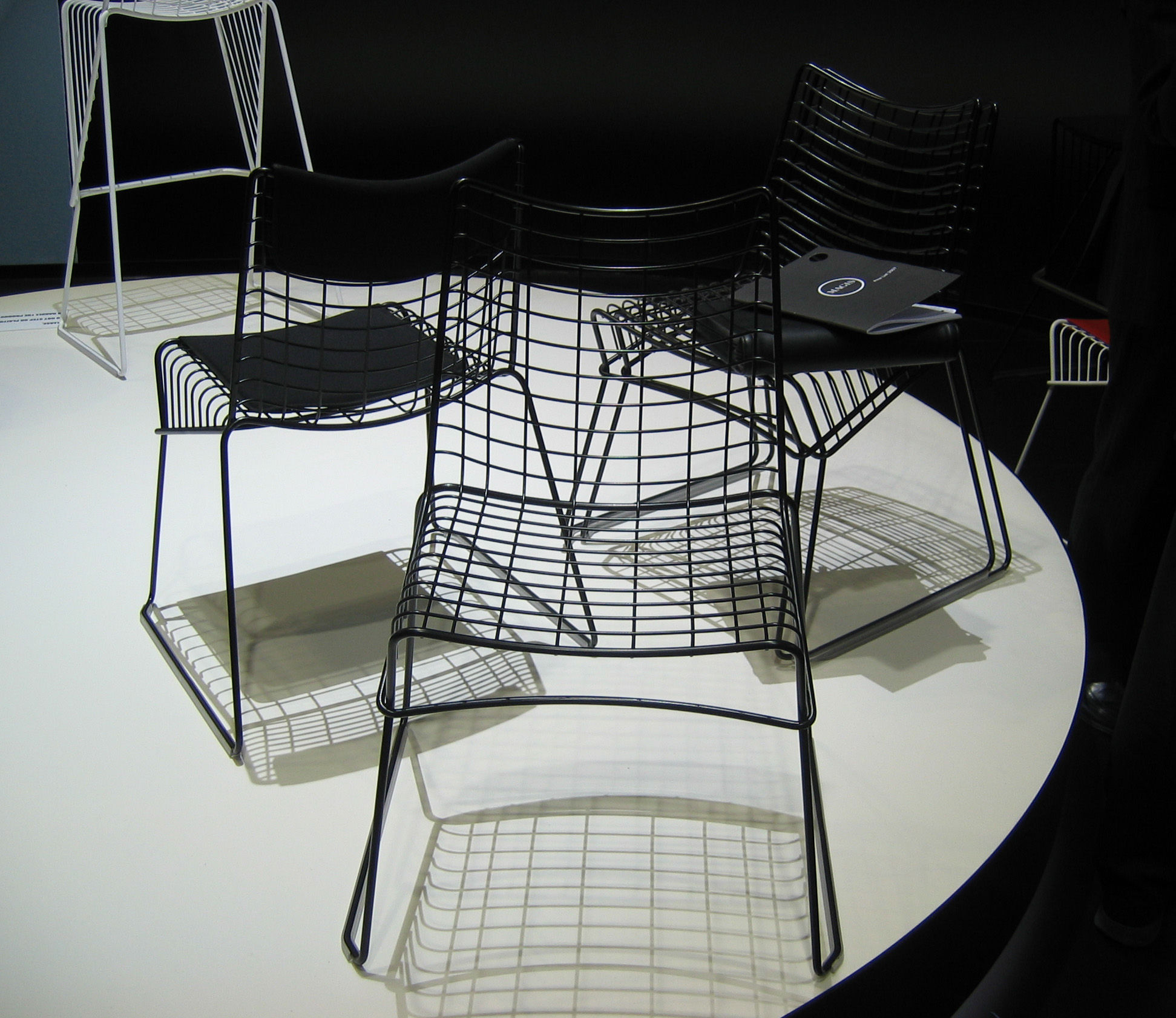 string chair seat mesh office costco cushion for the black by magis