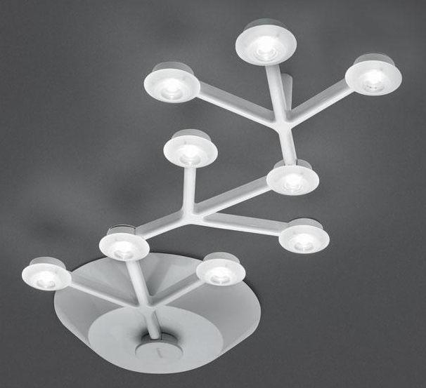 Plafonnier LED NET Linaire L 66 Cm Blanc Artemide