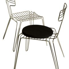 Metal Kitchen Chair Cushions Patio Sling Wire Seat Cushion Steel By Tom Dixon