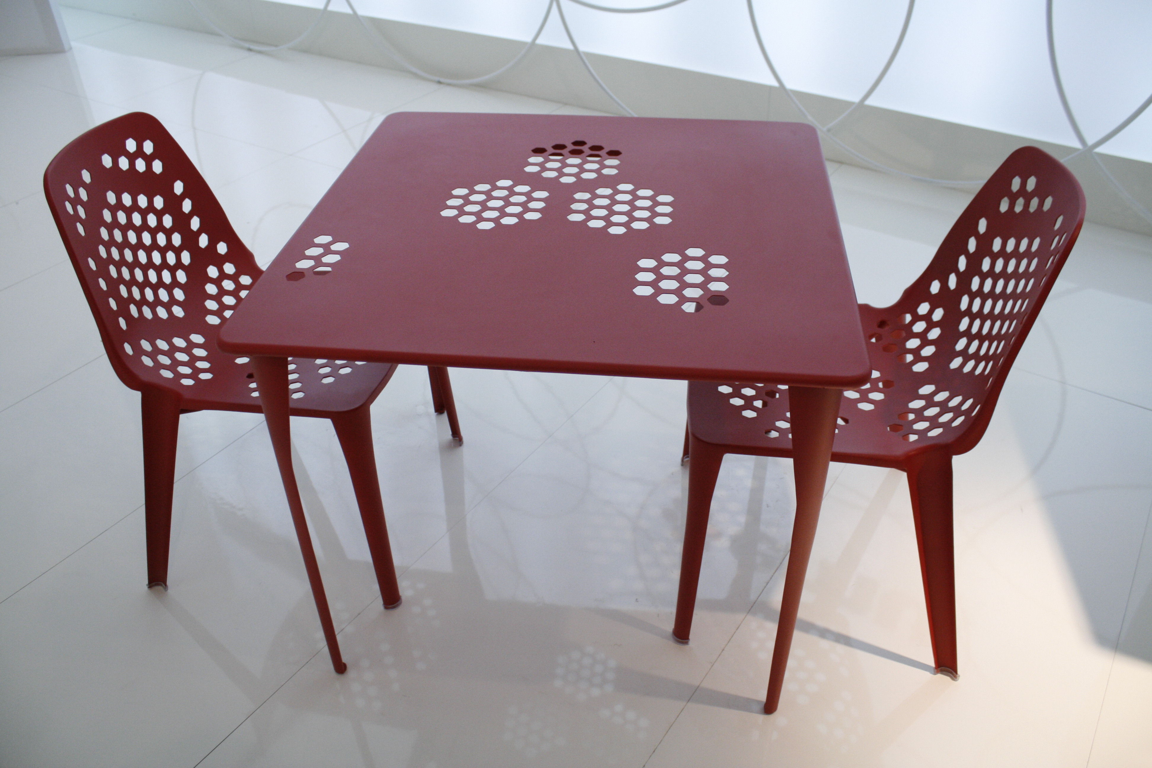 Emu Chairs Pattern Stacking Chair Metal Red By Emu Made In Design Uk