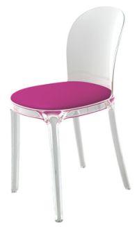 Vanity Chair Padded chair - Transparent polycarbonate ...