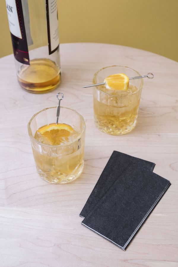 Whisky glass - / Set of 2 - With cocktail sticks ...