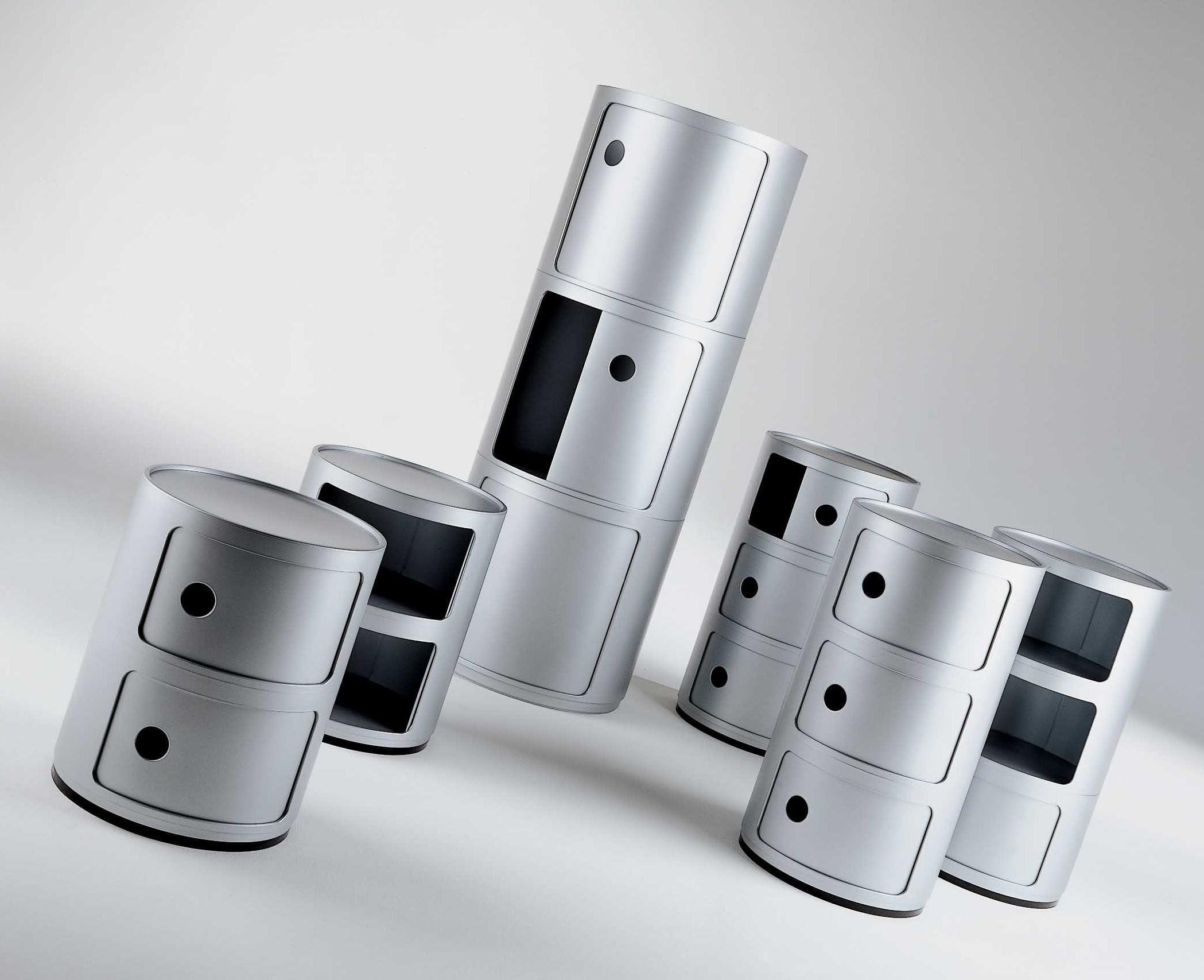 Rangement Componibili 2 Tiroirs H 40 Cm Blanc Kartell