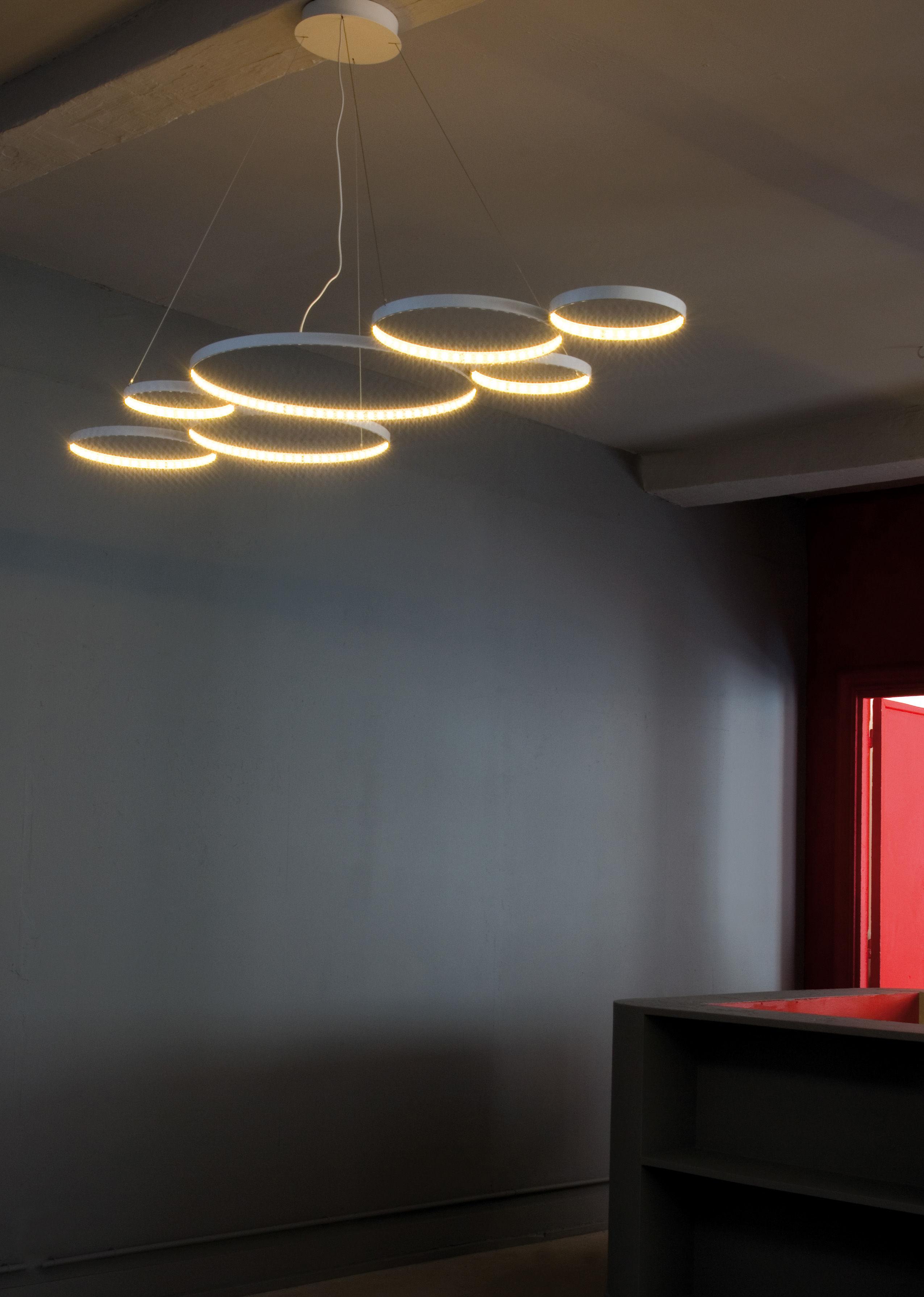 Suspension Ultra8 LED 180 X 50 Cm Blanc Le Deun