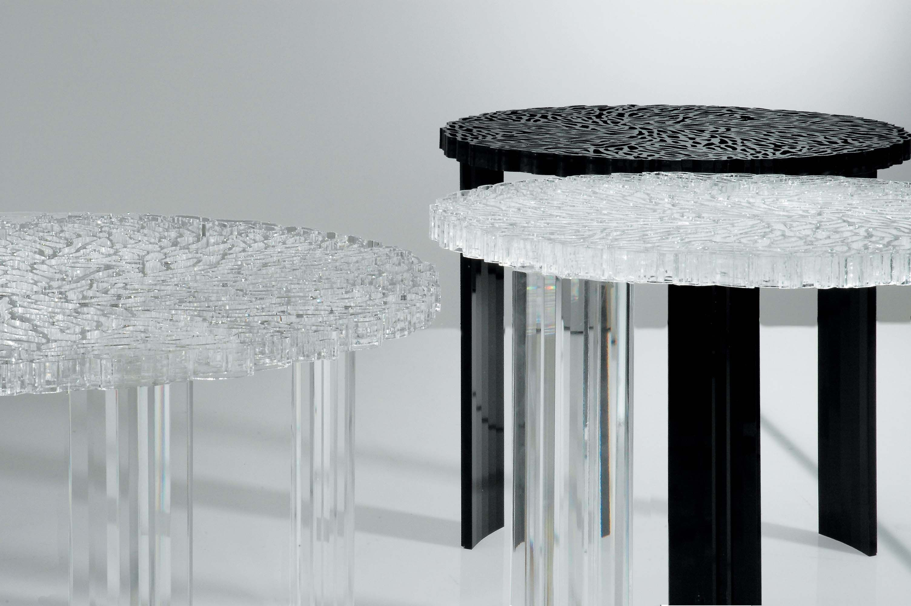 Table Basse T Table Medio 50 X H 36 Cm Cristal Kartell