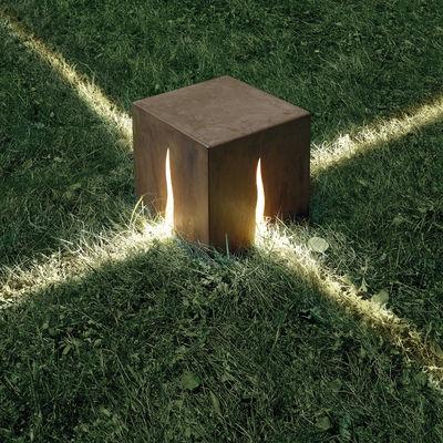 Lampe de sol Granito H 30 cm  Pour lextrieur H 30 cm  Couleur bois  Artemide