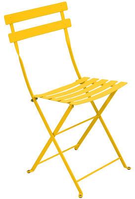 high end folding chairs ergonomic chair one utama chaise bistro fermob jaune | made in design