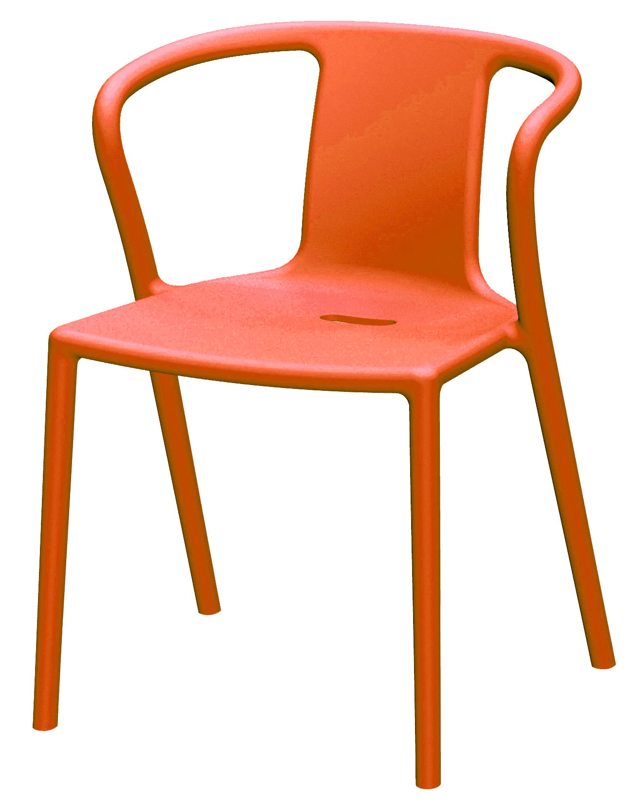 AirArmchair Stackable armchair  Polypropylene Orange by