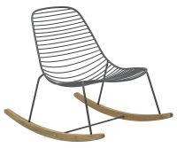 Sketch Rocking chair - Metal & Bamboo Grey / Bamboo by Houe