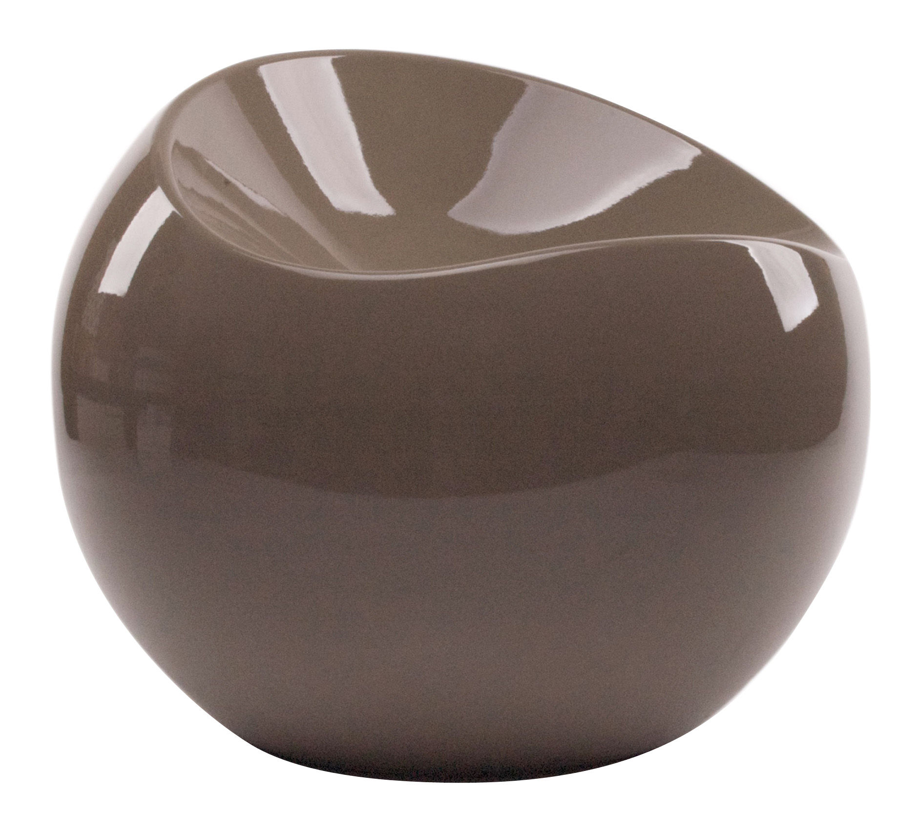 Ball Chair Pouf Taupe by XL Boom